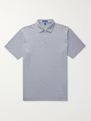 Peter Millar Miles Striped Stretch-Jersey Polo Shirt - Men - Blue