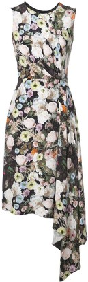 Adam Lippes Floral Print Midi Dress