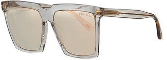 Tom Ford Sabrina 2 Square Acetate Sunglasses