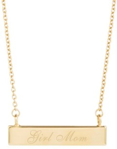 brook & york 14K Gold Plated Girl Mom Bar Necklace
