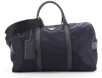 Prada Convertible Weekender Bag Tessuto with Saffiano Leather Medium