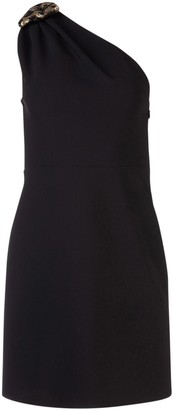 Miu Miu One Shoulder Embellished Dress