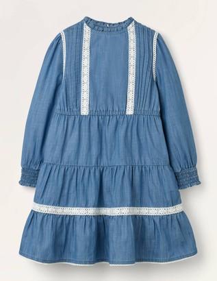 Lace Detail Woven Dress