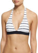 Heidi Klein Nassau Halter Padded Swim Top, White