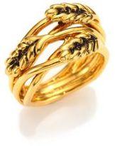 Aurelie Bidermann Wheat Ring/Goldtone