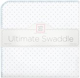 Swaddle Designs Ultimate Receiving Blanket - Pastel Blue Polka Dots