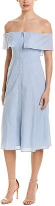 BB Dakota Jeanne Linen-Blend Shirtdress