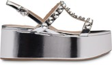Miu Miu crystal-embellished wedge sandals