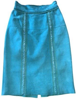 Burberry Turquoise Suede Skirt for Women