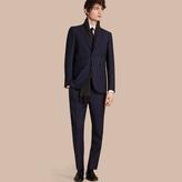 Burberry Modern Fit Wool Mohair Part-canvas Suit , Size: 50r, Blue