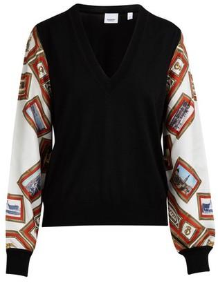 Burberry Ripa V collar pullover