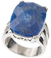 Lapis Steel by Design Stainless Steel Bold Faceted Ring