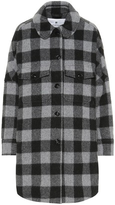 Woolrich W's Buffalo checked wool-blend jacket