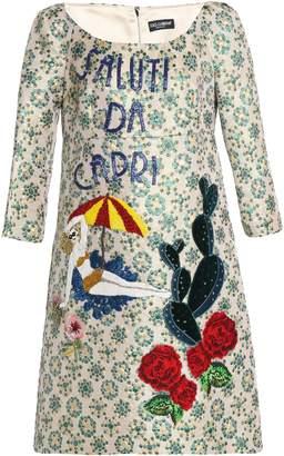 Dolce & Gabbana Embellished Brocade Dress