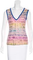 Dolce & Gabbana Sleeveless Graphic Print Top