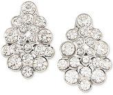 Carolee Silver-Tone Crystal Cluster Stud Earrings