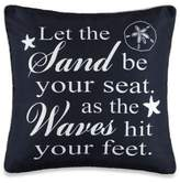 Bed Bath & Beyond Coastal Inspirational Message Square Throw Pillow in Navy