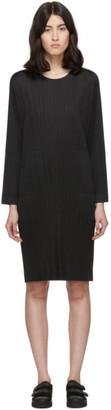 Pleats Please Issey Miyake Black Side-Vent Dress