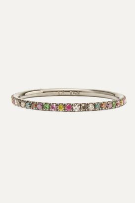 Ileana Makri Thread 18-karat Blackened White Gold Multi-stone Ring - 5