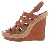 Christian Louboutin Leather Woven Wedge Sandals