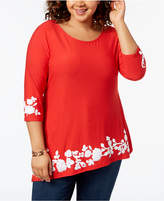 Belldini Plus Size Asymmetrical Tunic