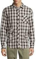 Hudson Checkered Cotton Dress Shirt