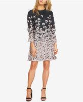 CeCe Cotton Floral-Print Shift Dress