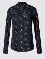Marks and Spencer Star Print Long Sleeve Shirt