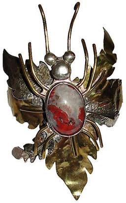 One Kings Lane Vintage Brutalist Red Jasper Bug Bracelet - Treasure Trove NYC