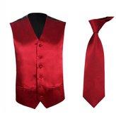 TopTie Men's Dress Vest Necktie Set For for Suit or Tuxedo, 2 Pieces Set-M