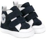 Armani Junior touch-strap trainers