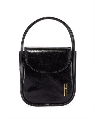Hayward Lucy Top-Handle Bag in Crinkle Leather