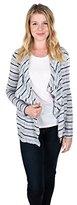 Velvet by Graham & Spencer Women's Marble Striped Open Cardigan