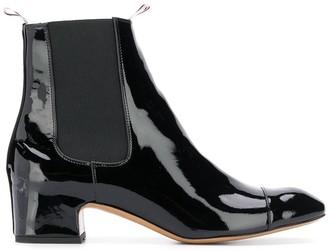Thom Browne Block Heel Patent Leather Chelsea Boot