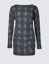 Marks and Spencer Tile Print Sweatshirt