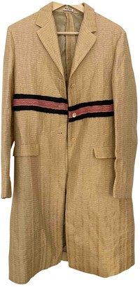 Miu Miu Gold Wool Coat for Women Vintage