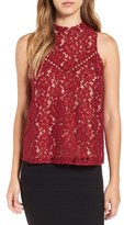 WAYF Women's 'Portrait' Embroidered Lace Tank