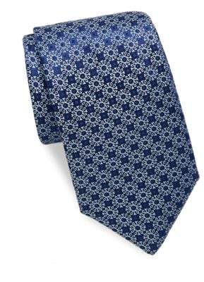 Charvet Flake Pattern Silk Tie