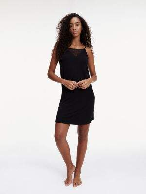 Tommy Hilfiger Viscose Lace Trim Strappy Night Dress