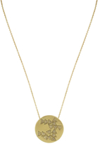 House Of Harlow Hieroglyphics Coin Pendant Necklace