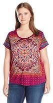 Lucky Brand Women's Plus Size Persian Carpet Tee