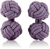 Barneys New York Men's Knotted Silk Cufflinks-LIGHT PURPLE