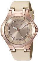 Invicta Women's 'Wildflower' Quartz Stainless Steel Casual Watch, Color:Beige (Model: 21761)