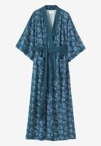 Toast Spot Floral Kimono Gown