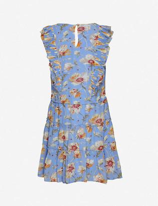 Paige Barbarella floral-print silk mini dress