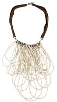 Brunello Cucinelli Bead & Leather Necklace