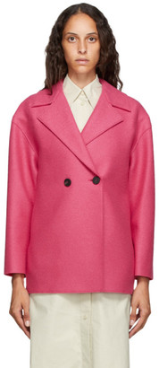 Harris Wharf London Pink Pressed Wool Jacket