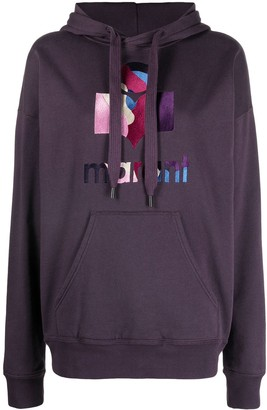 Etoile Isabel Marant Embroidered Logo Drawstring Hoodie