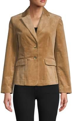 Rachel Roy Long-Sleeve Corduroy Jacket
