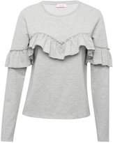 M&Co Ruffle front sweater top